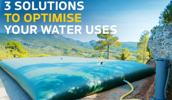 3 solutions to optimise your water uses